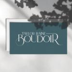 taylor raine boudoir logo mockup