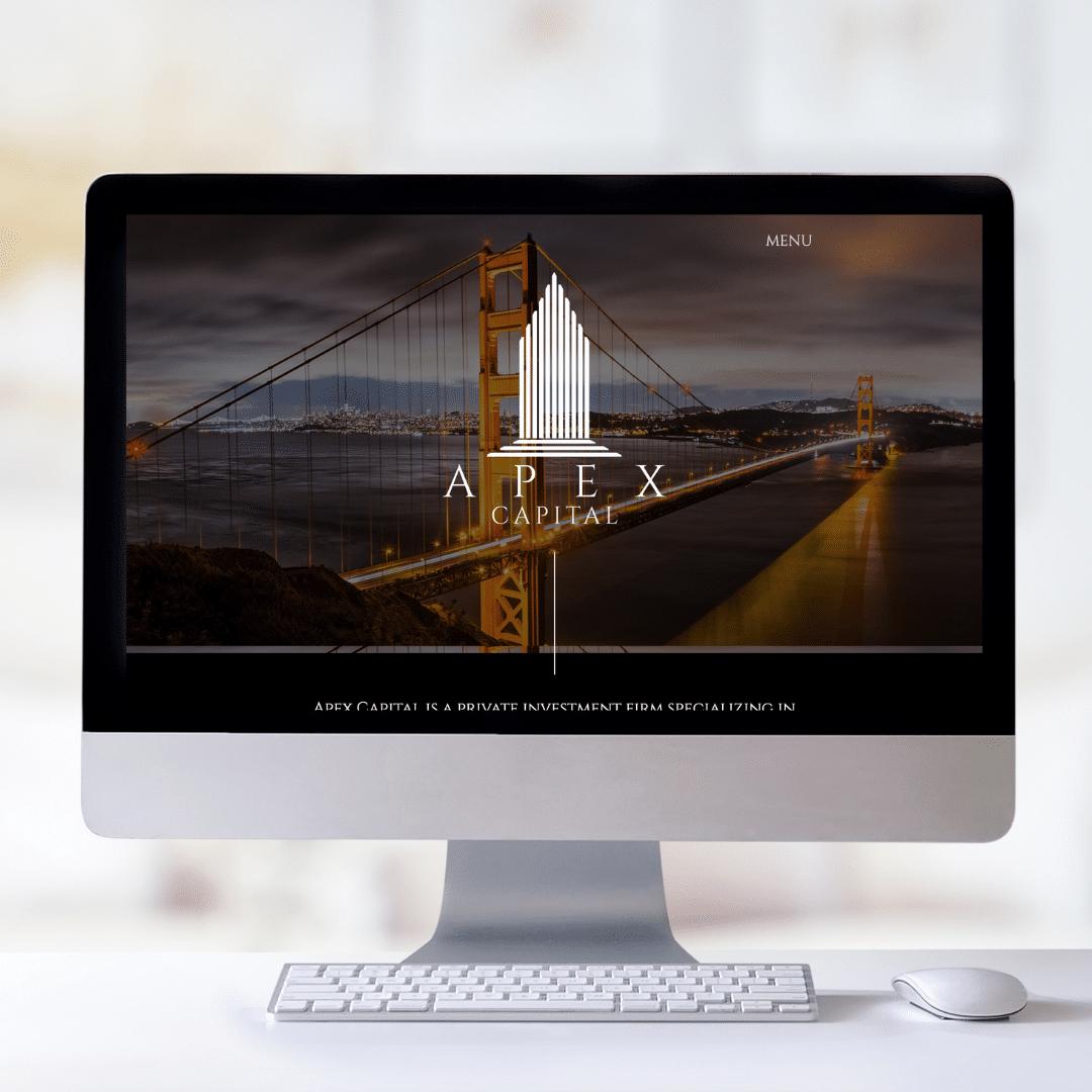 apex capital web design mockup