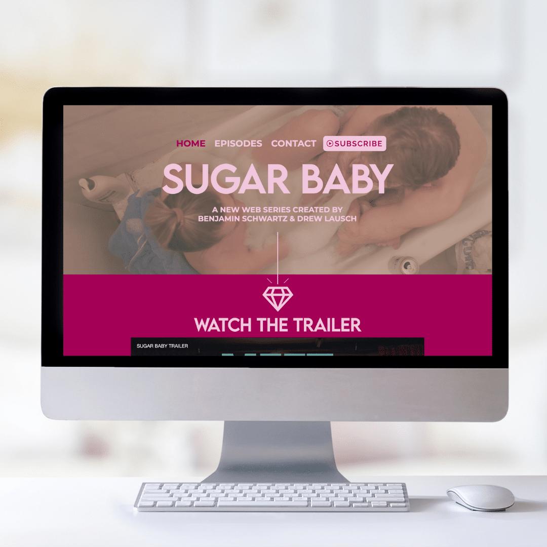 sugar baby website mockup