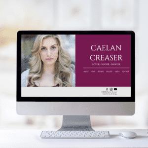 the caelan actor website template
