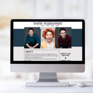 the david actor website template